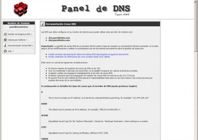 Documentación Zonas DNS dominios