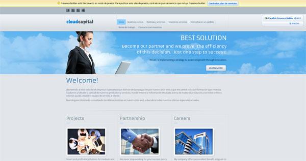 ejemplo web creada con el generador web de espaciowww