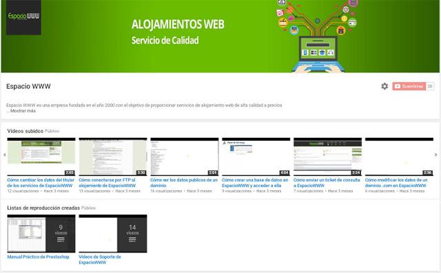 YouTube Espacio WWW
