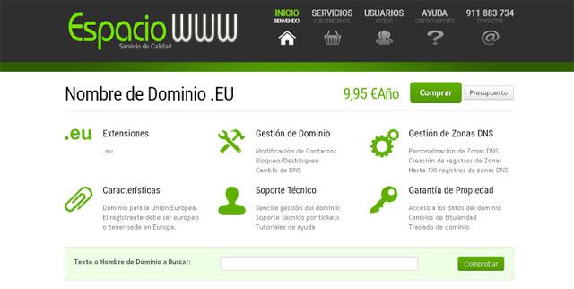 dominios .EU EspacioWWW