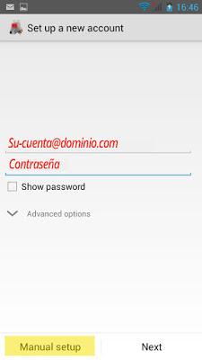 Configuración correo Pop3 en Android - paso2