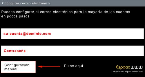 Configurar correo android - paso 2