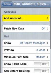 Configurar correo iphone 4 - paso 2