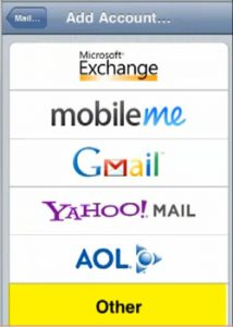 Configurar correo iphone 4 - paso 3