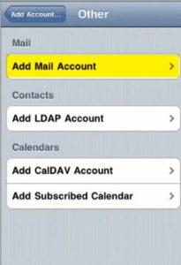 Configurar correo iphone 4 - paso 4