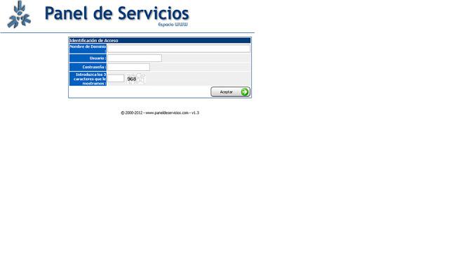 acceder al panel de control del hosting