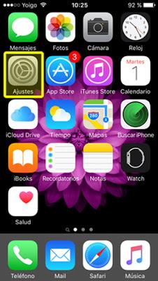 Configurar correo POP3 en Iphone 5/5s - paso 1