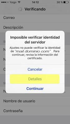 Configurar correo POP3 en Iphone 5/5s - paso 11