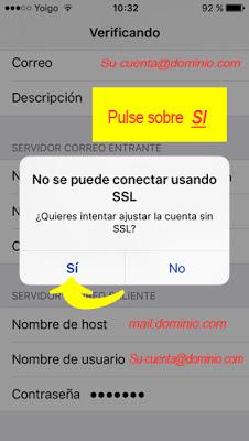 configurar cuenta de correo IMAP Iphone 5 / 5s - paso 12.1