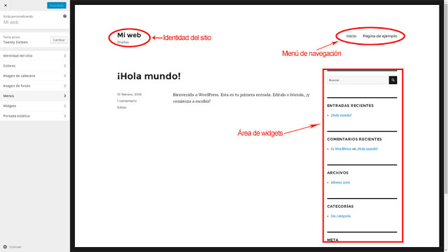 personalizar tema wordpress