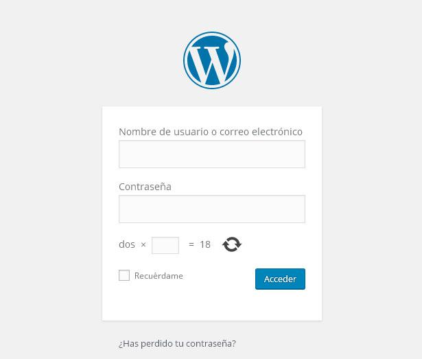Acceder a WordPress - ayuda Espacio WWW