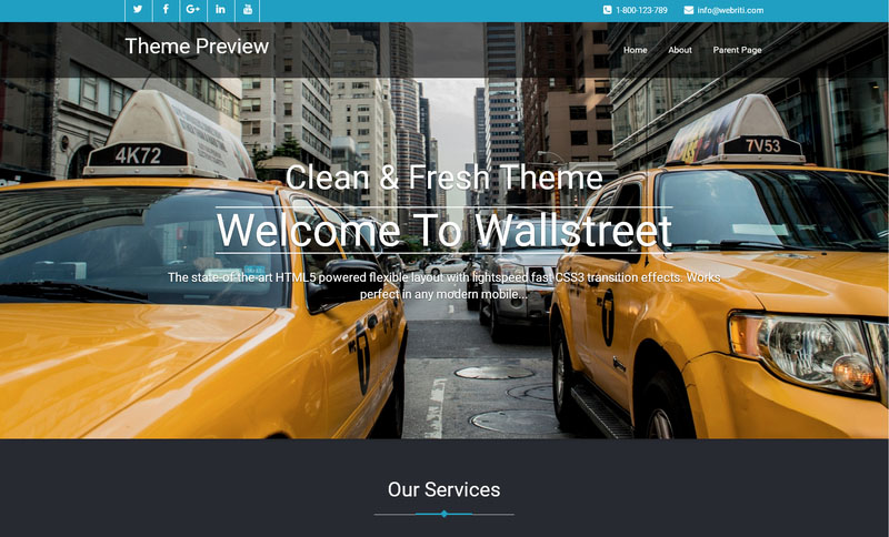 tema responsive wordpress - bluestreet