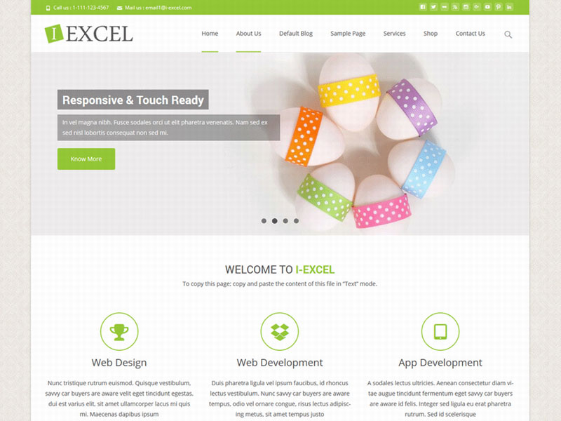 Tema elegante, flexible y responsive wordpress - i excel
