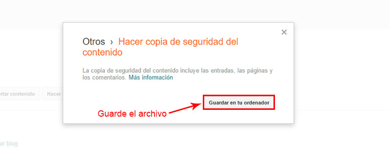 guardar archivo .xml para pasar de blogger a wordpress