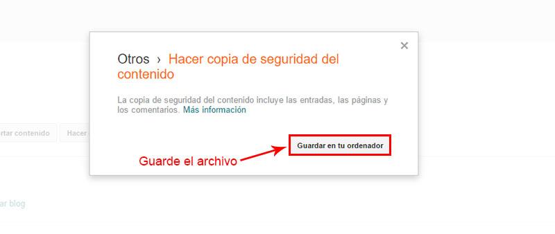 guardar archivo .xml para pasar de blogger a wordpress