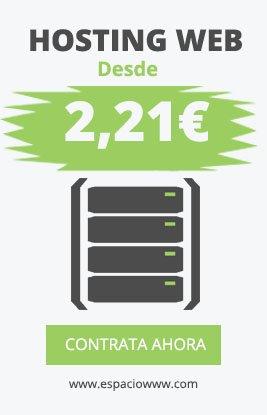 Alojamiento web desde 2,21 €/mes